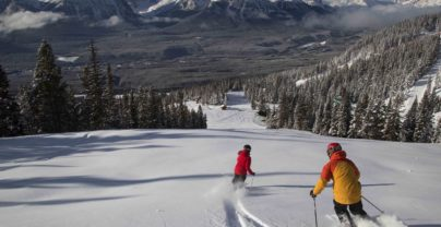 Winter in Canada: skiing in Jasper